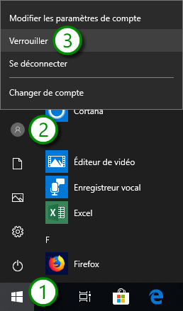 Windows 10 - Verrouiller une session